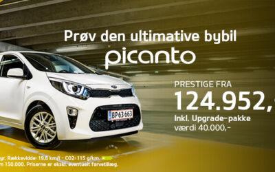 Den nye KIA Picanto Prestige inkl. Upgrade-pakke