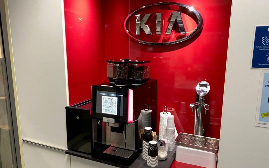 Berøringsfri kaffemaskine
